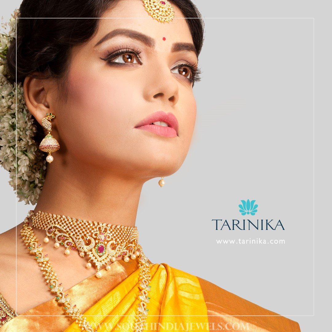 Gold Plated Bridal Stone Set From Tarinika