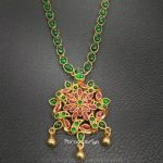 Gold Plated Pure Silver Emerald Attigai