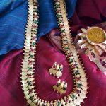 Gold Plated Long Coin Haram Set From Vasah