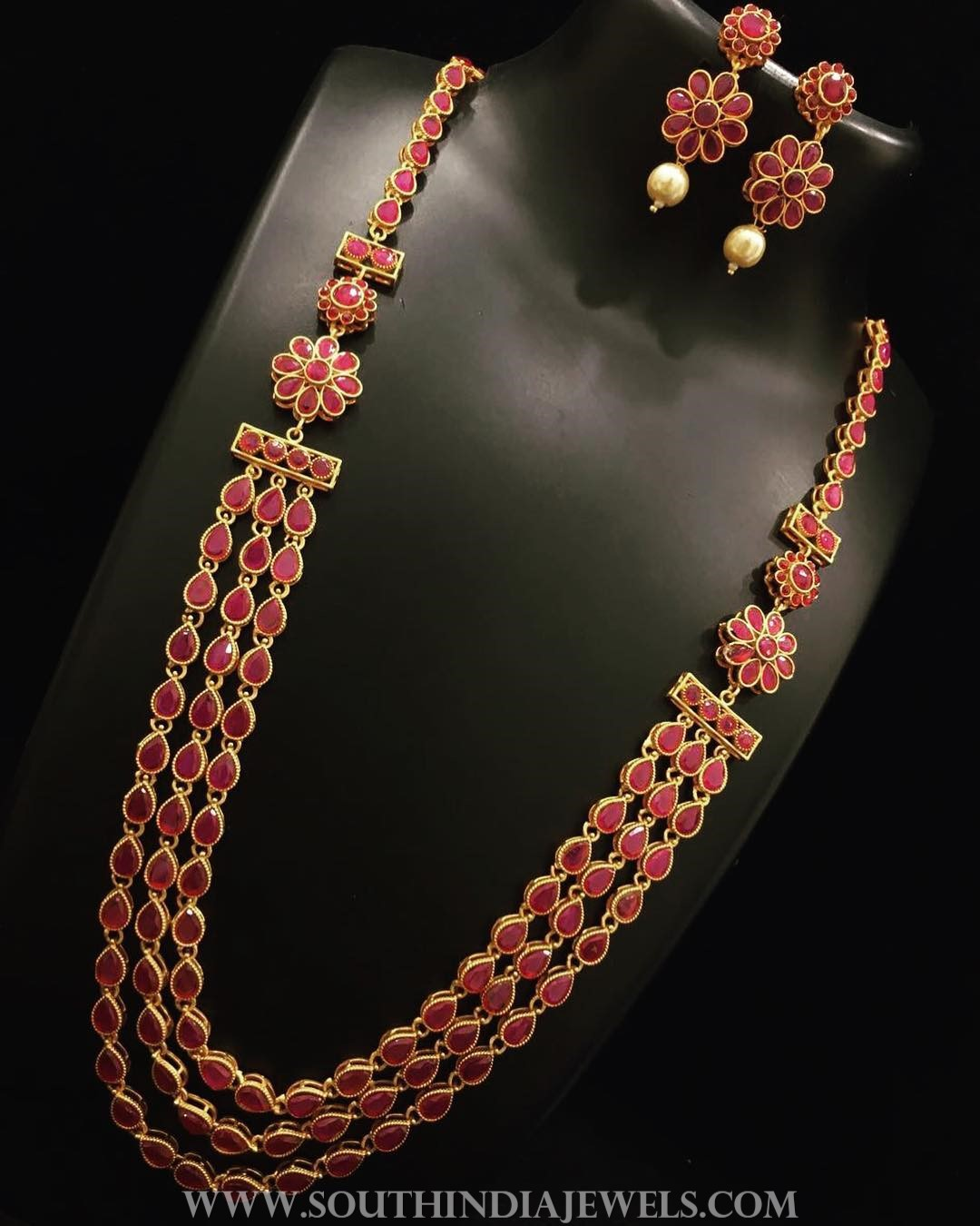 Multilayer Ruby Haram Set From Nakshatra