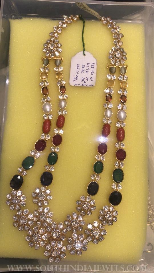 113 Grams Gold Polki Necklace Model