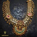 Beautiful Gold Antique Necklace Model From Arnav