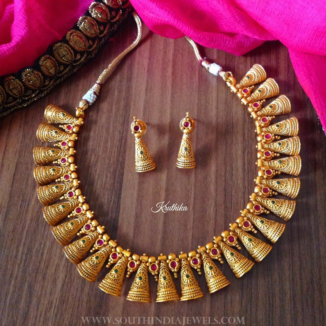 Bell Choker Set From Kruthika Jewellery