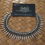 German Silver Spike Necklace Set From Izhayini