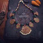 Green Kemp Necklace Set From Aabharanam