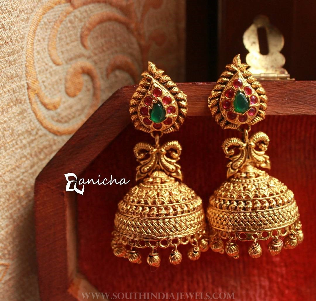 Imitation Ruby Jhuumka From Anicha