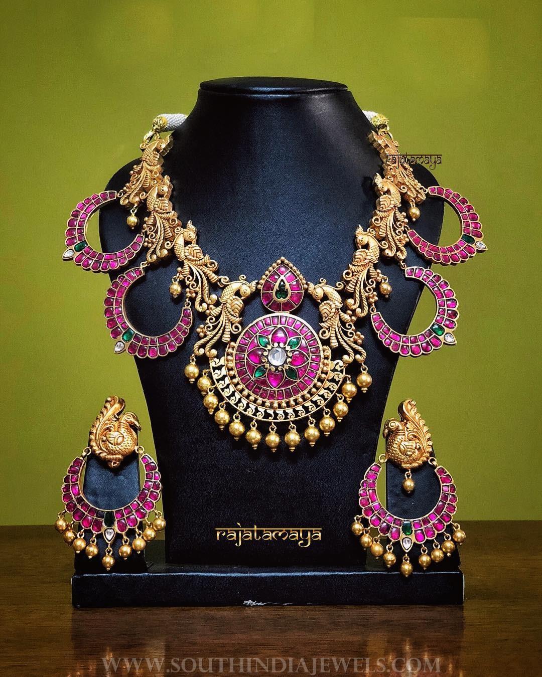 Bold Antique Necklace Set From Rajatamaya