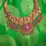 Gold Antique Necklace From Sabari