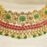 Latest Bold Gold Pachi Choker Necklace