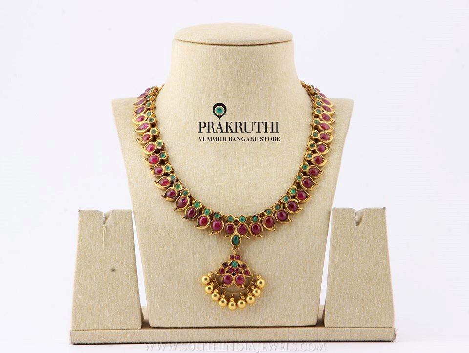 Gold Ruby Attigai From Prakruthi
