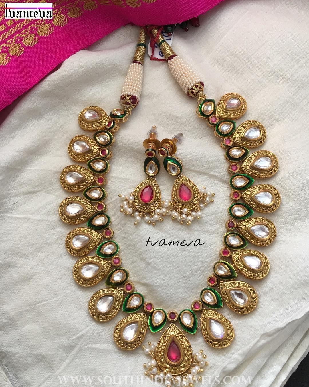 Kundan short necklace tvameva