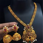 One Gram Gold Peacock Necklace Set From Alamakara