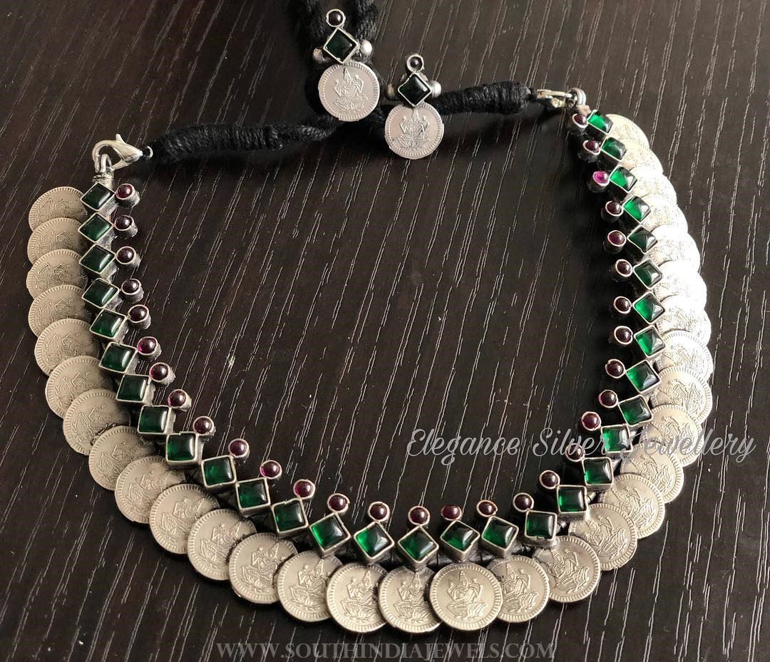 Pure Silver Coin Necklace From Elegance