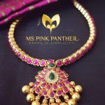 Classic Gold Plated Ruby Attigai From Ms Pink Panthers
