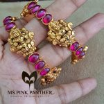 Gold Plated Antique Ruby Bangle From Ms Pink Panthers