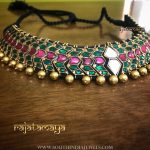 Gold Plated Emeraled Choker From Rajatmaya