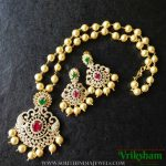 Imitation AD Pearl Necklace Set From Vriksham