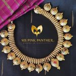 Matt Finish Antique Necklace From Ms Pink Panther Jewel