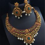 One Gram Gold Stone Necklace Set From Bead Chicz