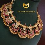 Pretty Gold Plate Antique Ruby Choker From Ms Pink Panthers