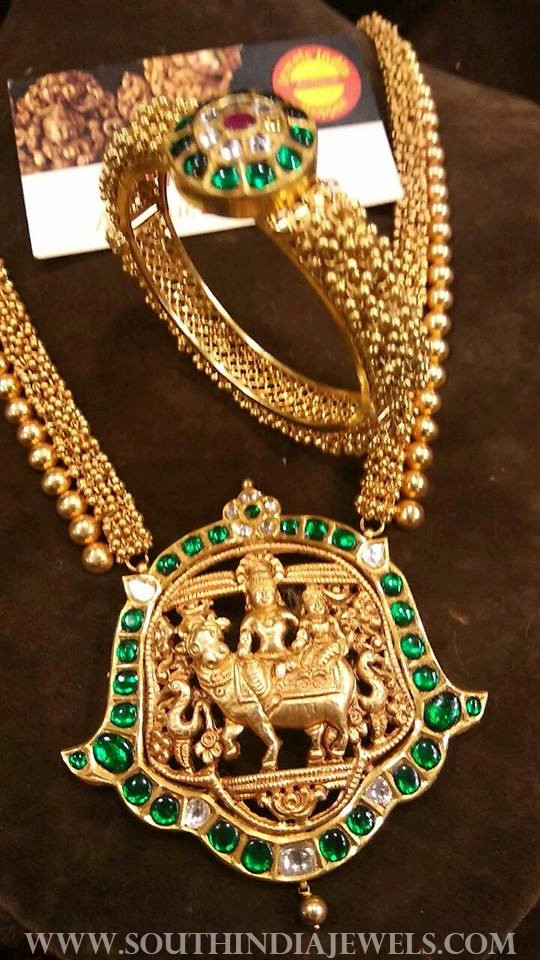 gold antique emerald temple jewellery jewels india antique shopee