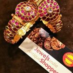 Gold Antique Ruby Bangle Set From Jewels India Antique Shopee