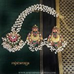 Gold Plated Pearl Short Necklace Set From Rajatamaya