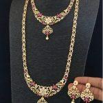 American Diamond Combo Necklace Set From Dhruvam