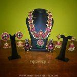 Beautiful Gold Plated Ruby Jewellery From Rajatmaya