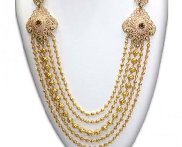 Diamond finish long haram NAJ Jewellery