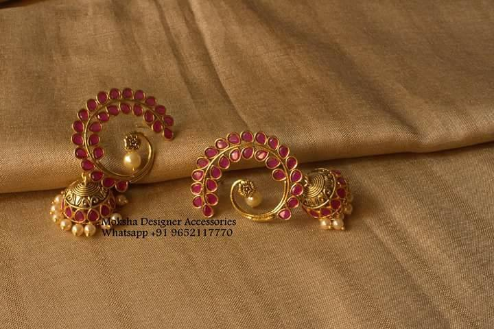 Earrings with jumkhi hangings Moksha Designer Accessories
