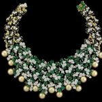 Glittering Diamond Necklace Set From Manjula Jewellery