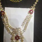 Gold CZstone Necklace From Premraj Shantilal Jain