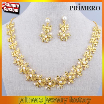 Gold pearl necklace set P.Satyanarayan & Sons Jewellers