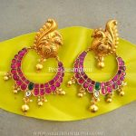 Gold Plated Antique Ruby Chandbali From Precious and You