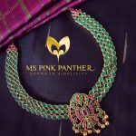 Gold Plated Emerald Attigai From Ms Pink Panthers