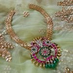 Gold Plated Necklace With Kundans From Bcos Its Silver
