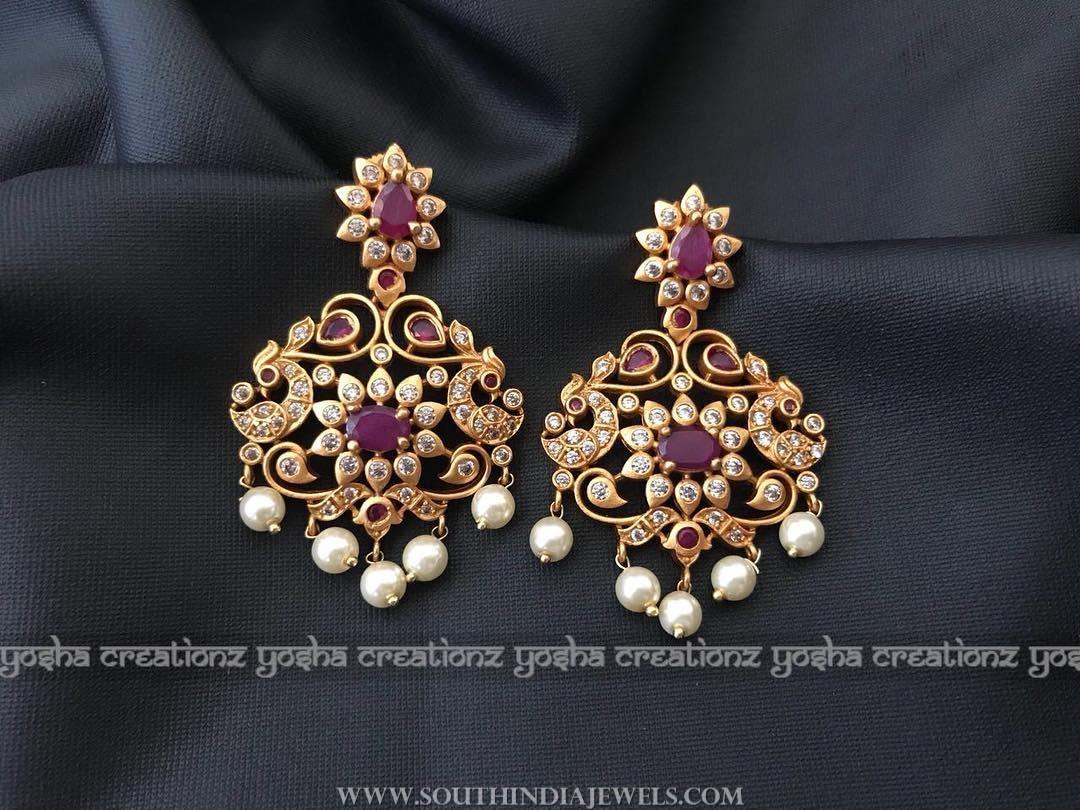 Gold plated ruby earrings yoshacreationz