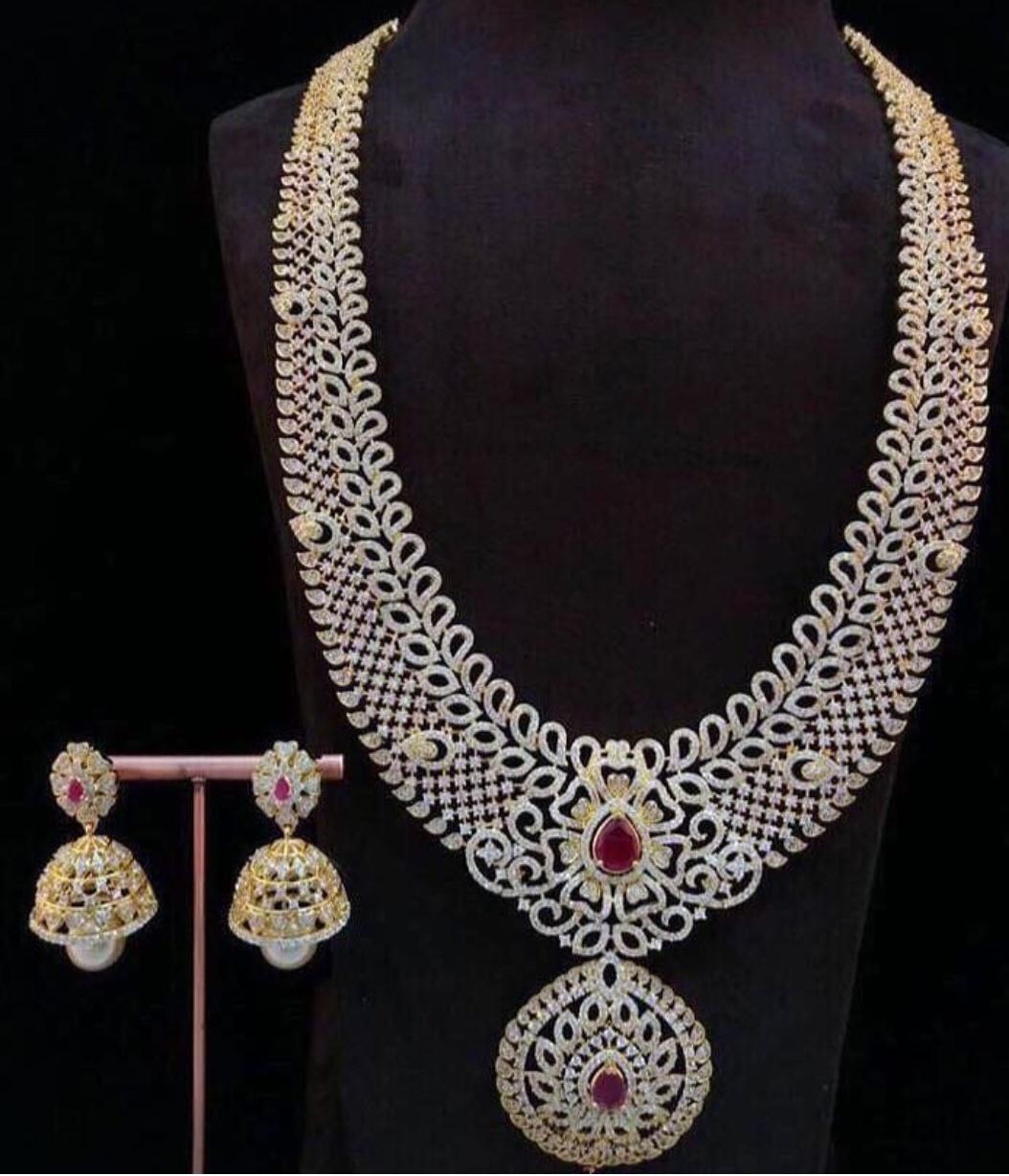 Imitation bridal stone haram set Dhruvam