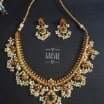 Imitation Guttapusalu Necklace From Aarvee Chennai