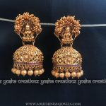 Matt Finish Antique Temple Jhumka From Yosha Creationz