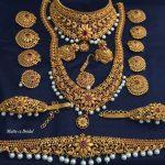 Matt Finish Imitation Bridal Set From Dhruvam