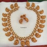 Matt Finish Gold Plated Mango Necklace From Tvameva