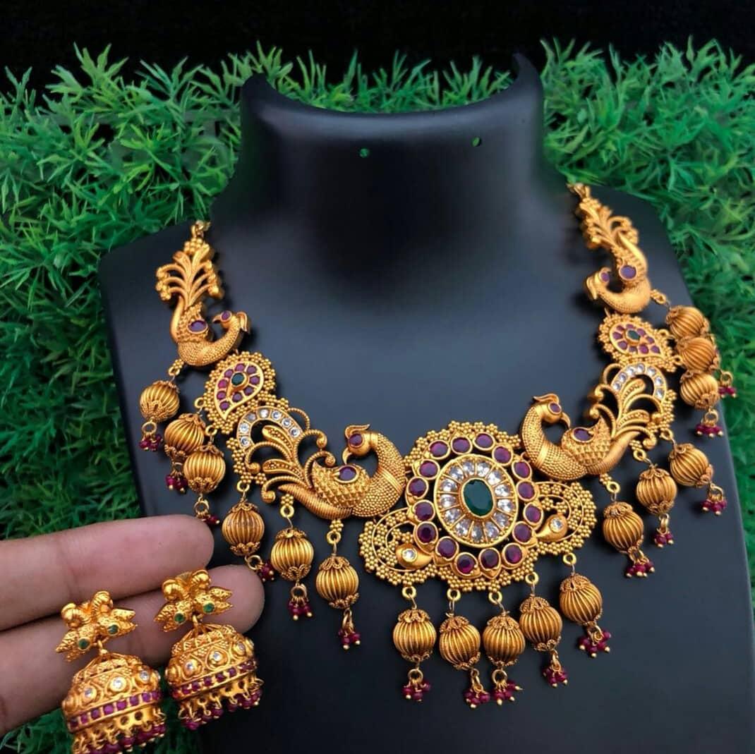 Amazing Peacock Necklace From Embelish Chennai