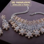 Attractive Diamond Necklace From Mahalakshmi Jewellers and Pearl