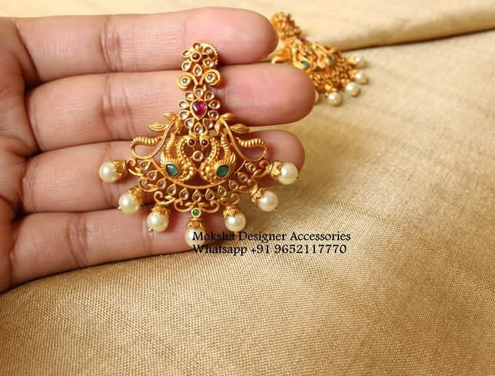 Beautiful Designer Peocock Earring From Moksha Designer Accessories