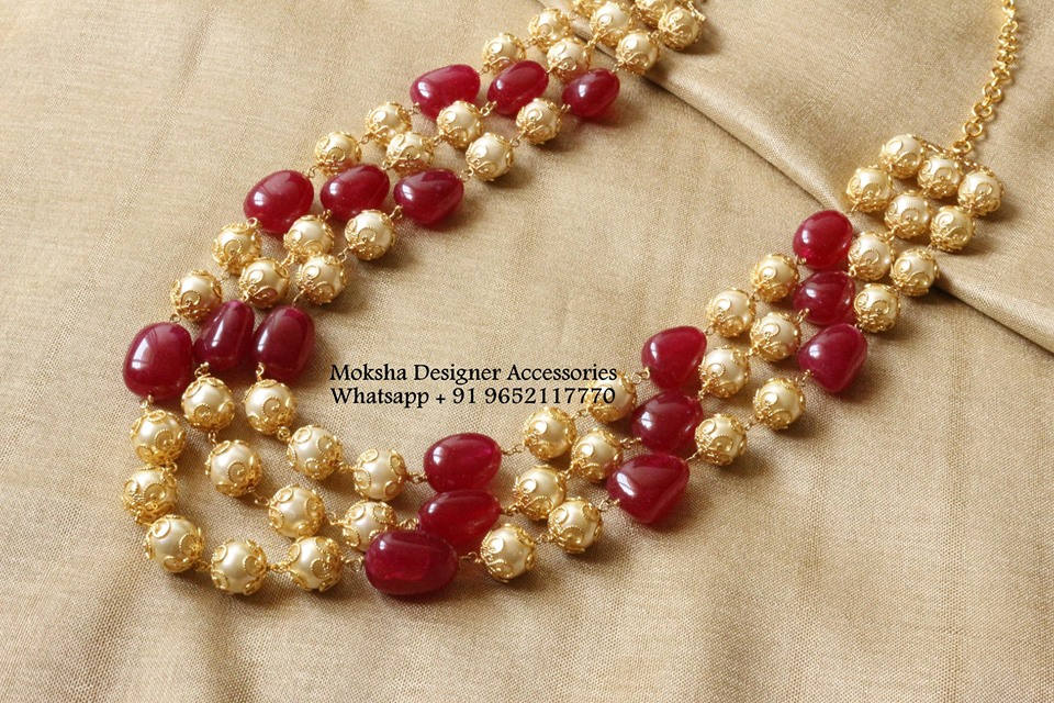 Designer Beaded Necklace From Moksha Designer Accessories