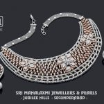 Diamond Necklace Set From Mahalakshmi Jewellers And Pearls