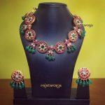 Elegant Kundan Necklace Set From Rajatmaya