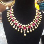 Gold Ruby Necklace From Bhavani Jewellers